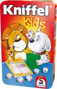 Schmidt Spiele 51245 Kniffel Kids, Mitbringspiel in der Metalldose, 2 bis 6 Spieler, ab 5 Jahre