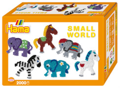 HAMA Bügelperlen Midi - Geschenkpackung kleine Welt Pferd & Elefant orange 2000
