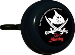 Captn Sharky Radglocke, Metall, schwarz, ab 4 Jahren