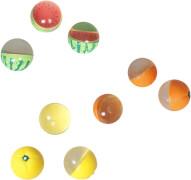 Outdoor active Früchte Flummis im Netz, # 45mm, 3-fach sortiert