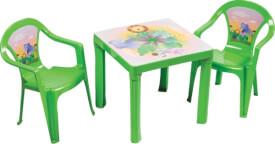Kinderstuhl grün mit Aufdruck